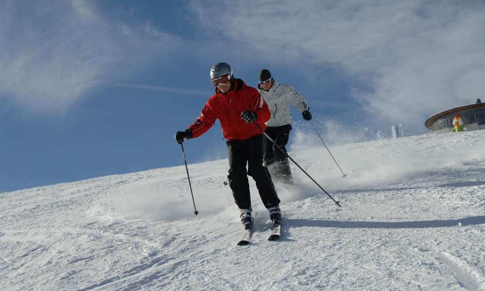 Fun on the slopes at the ski resort Plan de Corones